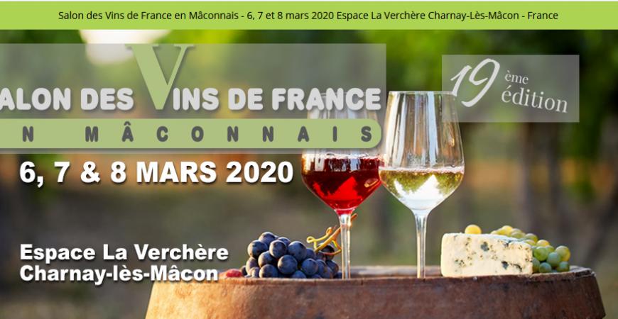 Nous serons présents au Salon des Vins de Charnay-lès-Mâcon
